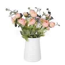 2 x Artificial 10-Head Silk Flowers Spring Rose Hydrangea Home Party Decor