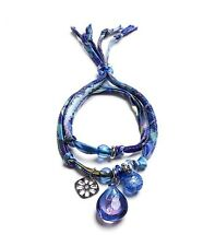 Antica Murrina Bali Secret 2--Murano Glass  And Polyester Bracelet