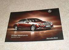 Mercedes E Class Price List 2009 E200 E220 E250 E350 CDI Sport Avantgarde