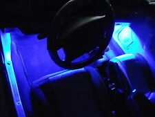 4Pc Blue Neon Interior, Underdash Lighting Kit with Flexible LED Strips & Remote