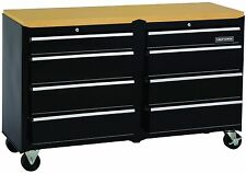 Tool Box Ball Bearing 8 Drawer Slides Cabinet Hard Work Surface Heavy Duty Lock