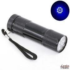 9 LED UV Black FlashLight Torch Cat Dog Pet Rodent & Animal Urine Stain Detector