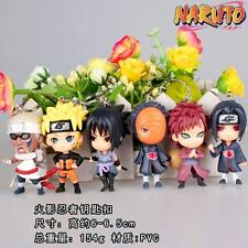 NEW 6pcs Naruto PVC figure Keychain Key Ring Pendant Anime Cosplay Gift