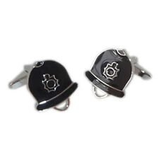 Policemans Helmet Police Copper Bobby CSO Officer Cufflinks Present Gift Box