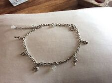 anklet charm silver color brand new