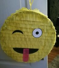 Wink Emoji Pinata filled with Sweets Birthday Party & Stick Can be personalised