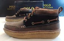 275 Polo Ralph Lauren VICK-BO-CSL Cow Hide Suede Leather Boots Lace Up Shoes 9.5