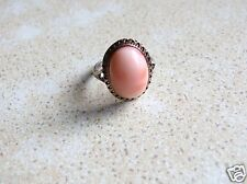 Antique Victorian Coral Silver Ring