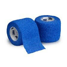 """Coban Wrap Self Adherent Medical Tape: 2"""" x 5yds (Blue) - Each """"One Roll"""""""