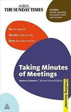 Taking Minutes of Meetings: Set the Agenda; Identify What to Note;-ExLibrary