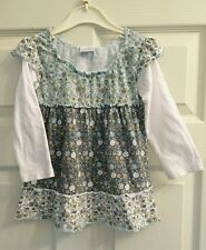 NEXT Pretty Dress Brown Green Floral 18-24 Months LOTS FOR SALE - SAVE ON P&P!