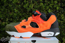 REEBOK INSTAPUMP FURY ASYMETRICAL SZ 8.5 CANOPY GREEN PEACH RED V67791