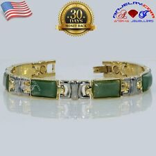COPPER ALLOY MAGNETIC BRACELET GOLD GP & SP AVENTURINE GEM STONE X20A_M