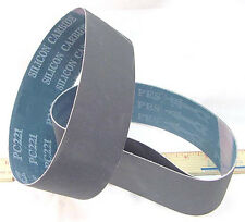 """BUTW (3) 400 grit Si Carbide lapidary grinding belt for 8""""x 3"""" expandable drum"""