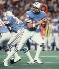 1980 KENNY STABLER Houston Oilers FOOTBALL ACTION Glossy Photo 8x10 PICTURE WOW!
