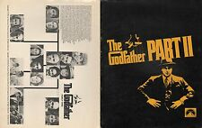 THE GODFATHER Part II - Promotional Brochure with cast and Family Tree - 1974