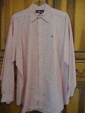 Men's Polo Ralph Lauren Pink Large Long Sleeve Shirt Size L 100% Cotton