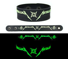 METALLICA Rubber Bracelet Wristband Glows in the Dark