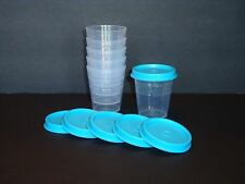 Tupperware Midgets Set of 6 - Salad Dressing Mayo Spices S&P & Blue Seals New
