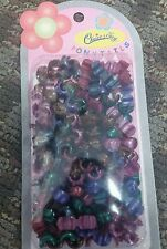 Mixed Color Assorted Snap on Mini Kids Hair Beads snap on beads 90+ beads