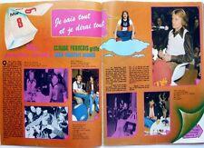 CLAUDE FRANCOIS et ALAIN CHAMFORT =   COUPURE DE PRESSE 2 pages 1974