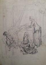 ADOLPHE LALAUZE (1838-1906 ) SCENE DE GENRE EPOQUE XIX°- COTATION (125)