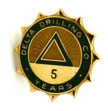 Distintivo A Rondella In Oro 10 k Delta Drilling  C O 5 Years cm 1,8