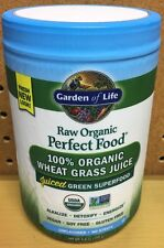 Garden of Life Perfect Food Raw 100% Organic Wheat Grass Juice Powder 4.2oz New