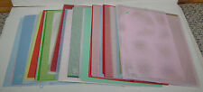 67 PLASTIC CANVAS SHEETS 7 & 10 MESH PATTERNS CLEAR RED PINK GREEN NICE 10X13