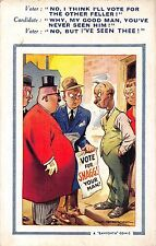 POSTCARD  COMIC   BAMFORTH   Vote for  Snagg  (  Large  Brown  Triangle )