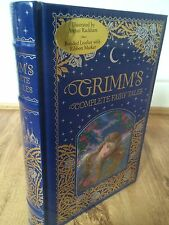 THE BROTHERS GRIMM - GRIMMS COMPLETE FAIRY TALES LEATHER BOUND BOOK EDITION
