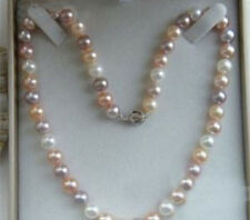 Charming 8-9mm Multicolor Akoya Pearl Necklace 18""