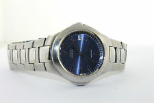 Guess Men's Blue Dial Date Window Stainless Steel Bracelet Watch G66450G