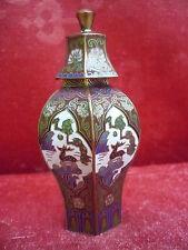 bella,vecchio Vaso Decorativo___in ottone__Cloisonné__vaso coperchio_