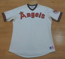 1980's CALIFORNIA ANGELS SAND KNIT AUTHENTIC PRO CUT JERSEY LOS ANGELES ANAHEIM