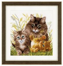 Cat Family - Vervaco Cross Stitch Kit New