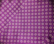 "Silk CHARMEUSE Satin Fabric EGGPLANT PURPLE MEDALLIONS 16""x27"" remnant"