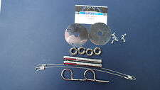 Vintage Snowmobile hood pin kit w/ lanyards, pins & scuff plates,Merc,Rupp,2-set