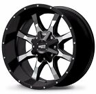 20x9 Moto Metal MO970 Gloss Black Milled Wheels Rims Chevy Ford GMC Dodge Jeep