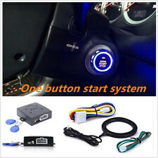 Keyless Entry Car Push Start Button RFID Lock Engine Starter Ignition Car Alarm