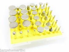 NEW 50pc 600 Grit Diamond Burr Bit Set for Dremel Rotary Tool Glass Tile Ceramic