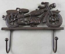 Cast Iron Motorcycle Coat Rack Garage Hooks Harley Davidson Look Key Rack