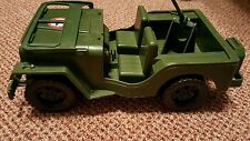 "Vintage 12"" H x 5.5"" W Plastic Toy Amloid US ARMY Jeep Truck"