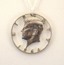 Kennedy Half Dollar, Cut-Out Coin Jewelry, Necklace