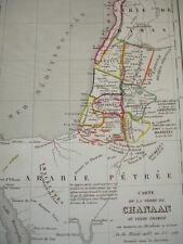 Carte de la Terre de Chanaan ou Terre Promise  au moment ou Abraham y arriva