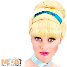 Blonde Cinderella Princess Ladies Wig Fancy Dress Adult Womens Costume Accessory