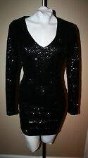 NEW LOOK ASOS nwt Holiday formal black sequin mini little dress UK 8 US 4 2