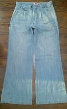 *JUICY COUTURE* Boho Chic Super Flare Jeans Pants. Sz 8 Long* Lightweight* MINT