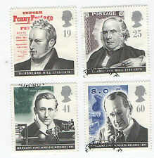 GB Stamps SG 1887-1890. 1995 Pioneers of Communications. VFU as per General Scan