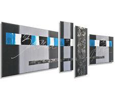 MK1 Art Bild Leinwand Abstrakt Gemälde Kunst Malerei modern Bilder blau XXL